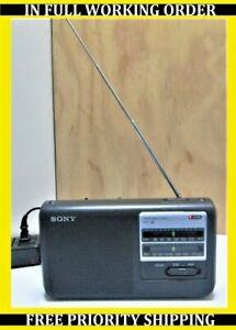 Vintage Sony ICF-38 Two Band Portable AM/FM Radio