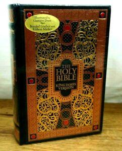The Holy Bible King James Version Kjv Gustave Dore Illustrée Cuir Lisérés Neuf