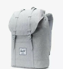 Herschel Supply Co Retreat Light Grey Crosshatch Backpack Bag Pack Laptop New