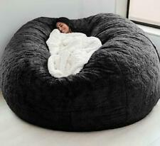Best Microsuede 7FT Foam Giant Bean Bag Memory Living Room Chair Lazy Sofa Cover