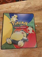 More details for vintage pokemon original a4 folder snorlax 1999 binder ultra pro wotc checklist