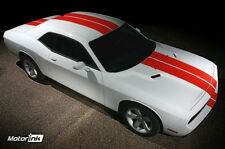 2008-2014 Dodge Challenger Rally Racing Over the Top Hood & Rear Stripes Decals