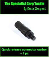 A0372 QUICK RELEASE CONNECTOR CARBON SGANCIO RAPIDO CARPFISHING AVVISATORI