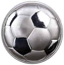 2016 Monarch 1 oz. .999 Fine Prooflike Silver Domed Soccer Ball Round SKU42138