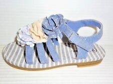 3664a403e7b20b CHEROKEE Girl s Toddler Joslyn Sandals Chiffon Flower Blue Sz 10