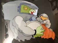 Rare Street Sharks Original Production Animation Cel REPTEEL & KILLAMARI Villain