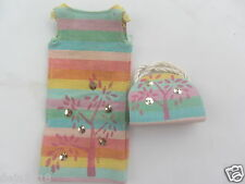 Vintage Barbie Skipper Doll Sunny Pastels Outfit #1910 1965 Dress, Purse Pretty
