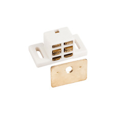 Box of 50-  20 lb.  White/Brass Magnetic Catches- Shutter Hardware- # 50653
