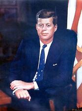 PRESIDENT JOHN F. KENNEDY ORIGINAL LITHO POSTER BY LOUIS FABIAN BACHRACH - 1960