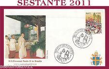 VATICANO FDC ROMA VISITA PAPA GIOVANNI PAOLO II BRASILE FLORIANOPOLIS 1991 (662)