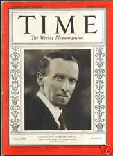 MAGAZINE TIME Governor John Buchan  OCTOBER 21 1935