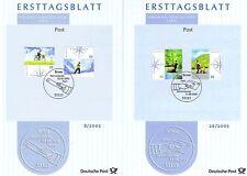 BRD 2005: Briefzustellung der Post! Ersttagsblätter der Nr 2447+2448+2481+2482!