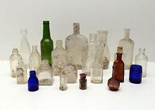 Vintage Bottle Lot of 21 ben hur listerine lambert Pharmasudical empty