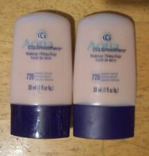 2 tube lot COVERGIRL CG SMOOTHERS foundation MAKEUP 720 CREAMY NATURAL unsealed