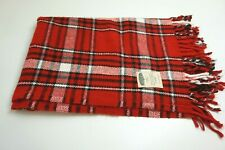 "FARIBAULT WOOLEN MILL COMPANY RED PLAID 40"" X 56"" THROW / LAP BLANKET USA MADE!!"