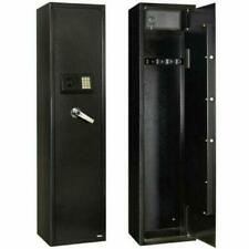 5 Gun Rifle Storage Wall Safe Box Security Cabinet Electronic Dual Lock Steel