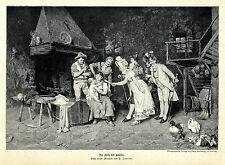 P. Torrini Der Stolz des Hauses Nachwuchs- Präsentation Histor. Druck v. 1896