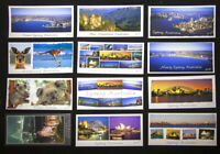 Sydney Australia, Set of 12 Panorama Postcards, Opera House, Manly, Bondi Beach.