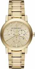 Burberry The City BU9753 Gold-Tone Chronograph Swiss Quartz 38mm Women Watch