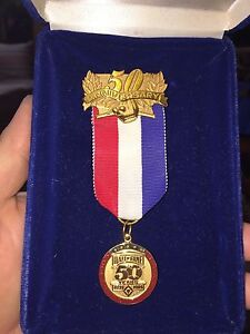 1989 Baseball Hall Of Fame Anniversary Press Pin