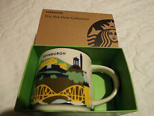 New Starbucks Edinburgh 'you are here' Collector Mugs  Brand New and Boxed