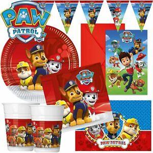 Paw Patrol Theme Boys Birthday Party Tableware Napkin Plates Cups Party Supplies