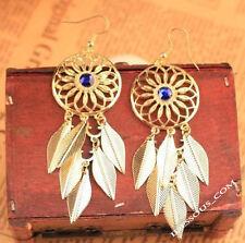 Inca Ohrringe Gold Blättchen Ohrhänger Damen Indiana Ohrstecker Luxus  LA FERANI