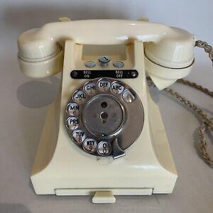 Vintage GPO 328L Bakelite telephone, ivory, bell on/off knob