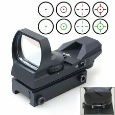 CVLIFE 1X22X33 Red Green Dot Laser Sight Scope Reflex Sight with 20mm Rail