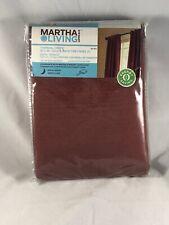 Martha Stewart Living Thermal Crepe 50X84 Back Tab Panel Color Ohio Buckeye