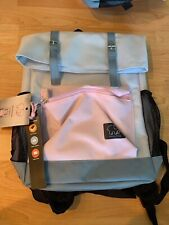 """Ivory Ella 16"""" Rollover Backpack Book/Laptop Bag - Blue/Magenta - New With Tags"""