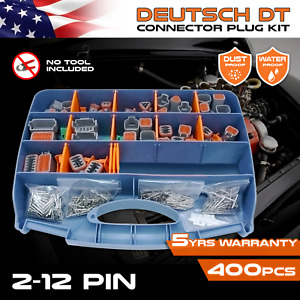 400 PCS DEUTSCH DT Connector Kit & pin removal tool