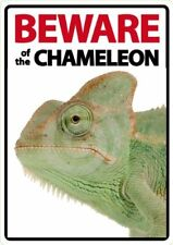 Beware of the Chameleon A5 Plastic Sign