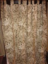 THERMAL LOGIC FALLING LEAVES NEUTRAL BROWN TAUPE (PAIR) LINED PANELS 40 X 72