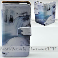 For OPPO Series - Snow Waterfall Theme Print Wallet Mobile Phone Case Cover