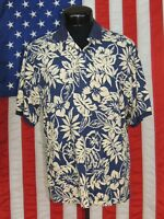Rare VTG Made Hawaii Hawaiian Shirt Tiki Aloha Cooke Street St Polo Golf Floral
