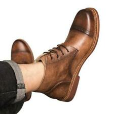 Brogue Mens Real Leather Chukka Boots Shoes Business Formal Carved Cowboy Club L
