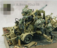 1:35 WWII German 88 mm artillery group no gun High Quality Resin Kit 5 Figures