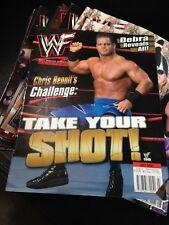 WWF WWE Magazine JULY 2001 Chris Benoit + Debra Poster