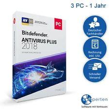 BitDefender Antivirus plus 2018 3 PC - 1 Jahr deutsch Download