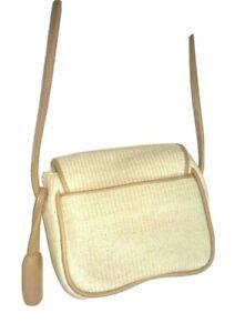 LIZ CLAIBORNE Small Vintage Shoulder Bag Handsome Knit Cross-Body W/ Hang Tag