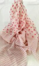 NEW Scarf Fairy floss Pink Spots. Perfect for any season-100% Cotton