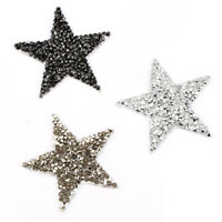 Iron On Patch Clothes Bag Embroidery Applique Sticker Fabric Badges Star Patches