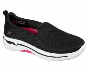 Skechers Women's Go Walk Arch Fit Grateful Black Hot Pink