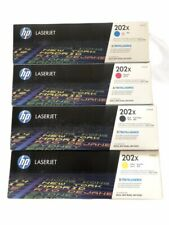 Genuine HP 202X LaserJet 4 Toner Black Color Set New CF500X,CF501X,CF502X,CF503X