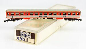 Vintage Marklin Mini-Club 8702 German Z Scale City-Bahn 2nd Class Passenger Car