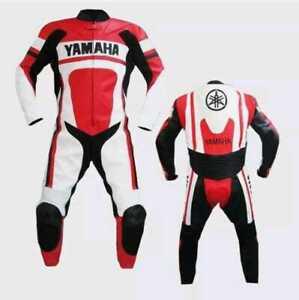 Customized Yamaha Motorcycle Motorbike Biker Racing Leather 1&2 Piece Suit