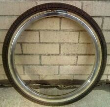"1 OLD HARO 20"" INCH BMX 100 PSI multisurface 3 BIKE TIRE 48 HOLE CHROME RIM"