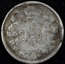 PARTING OUT SET!  NICE CIRC DETAILS KEY 1875-H LARGE DATE CANADA 5 FIVE CENT.