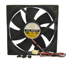 120mm 25mm New Case Fan 12V DC 124CFM 3 Pin CPU PC Cooling 3 Pin Ball Brg 321*